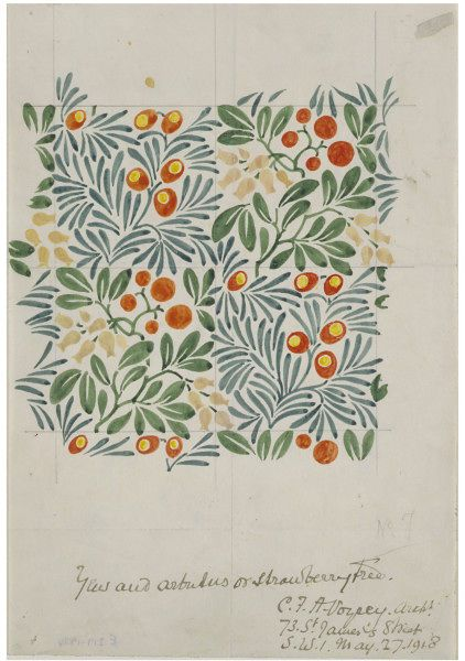 Photo of Yew and Arbutus | C. F. A. Voysey | V&A Search the Collections