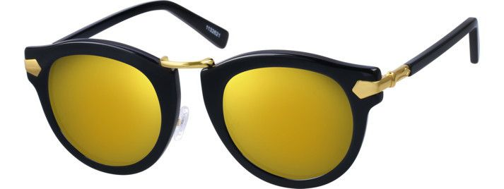 56253bf228d Zenni Optical Premium Round Sunglasses in Black Gold with full UV  Protection Coating I Cheap vs. Expensive Sunglasses  Is it Worth it to Spend  More or OK to ...