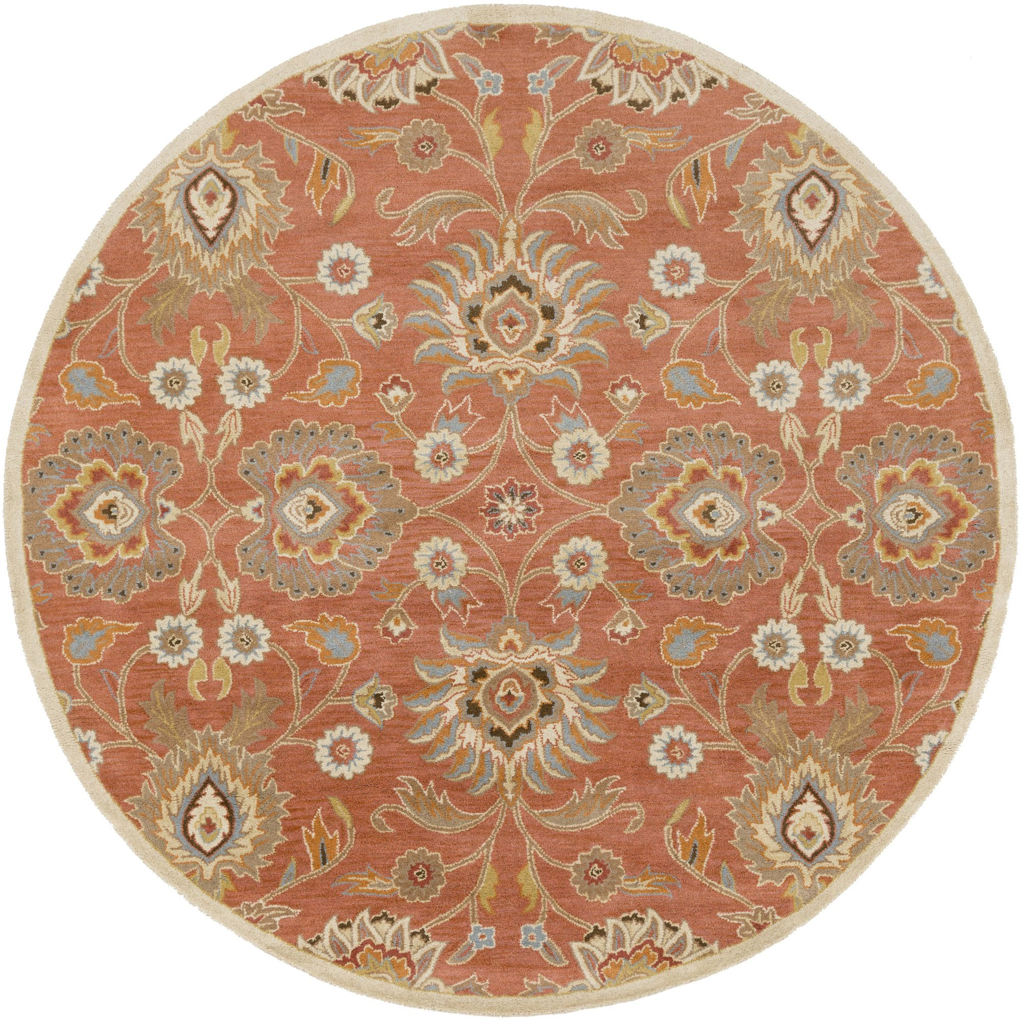 Topaz handtufted burnt orange area rug orange area rug oriental