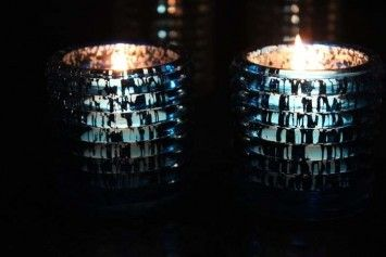30 Blue Mercury Glass Votives Candle Holders 95 Wedding Wingdings
