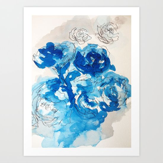 Buy Roses and Blue Ink by Jonathan Kusnerek as a high quality Art Print. Worldwide shipping available at Society6.com. Just one of millions of products available.