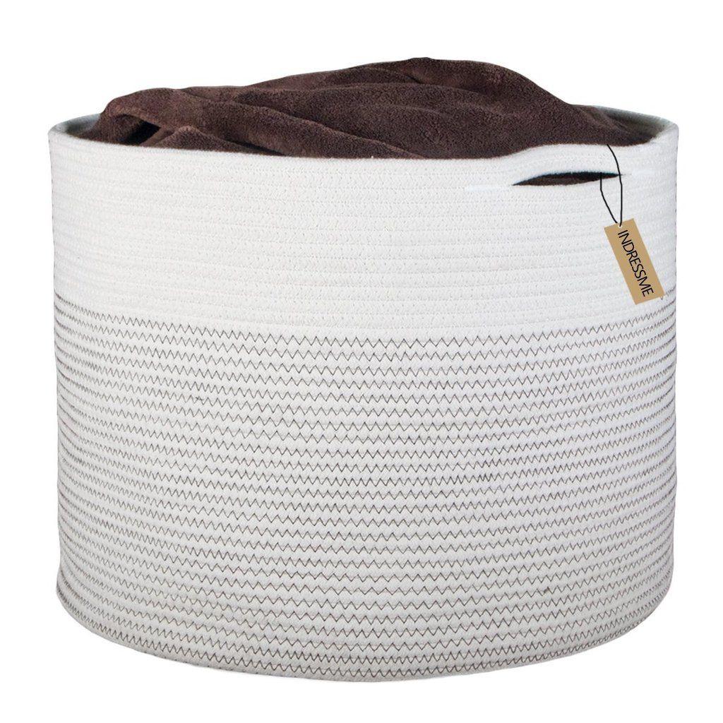 90b109c9844c Extra Large Storage Baskets Cotton Rope Basket | Baby Chandler ...