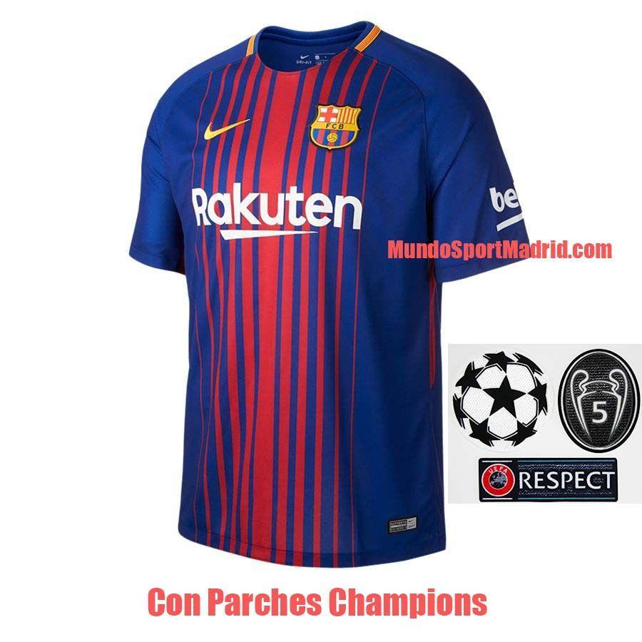 La Nueva Camiseta Barcelona 2018 con todos los parches de la Champions 256f303a3cad7