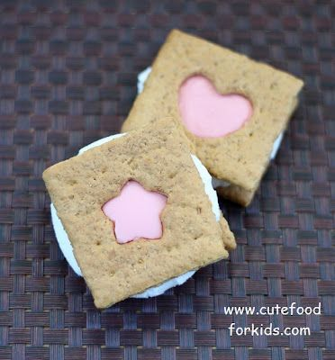 How to Cut Out Shapes on Store Bought Graham Crackers by cutefoodforkids