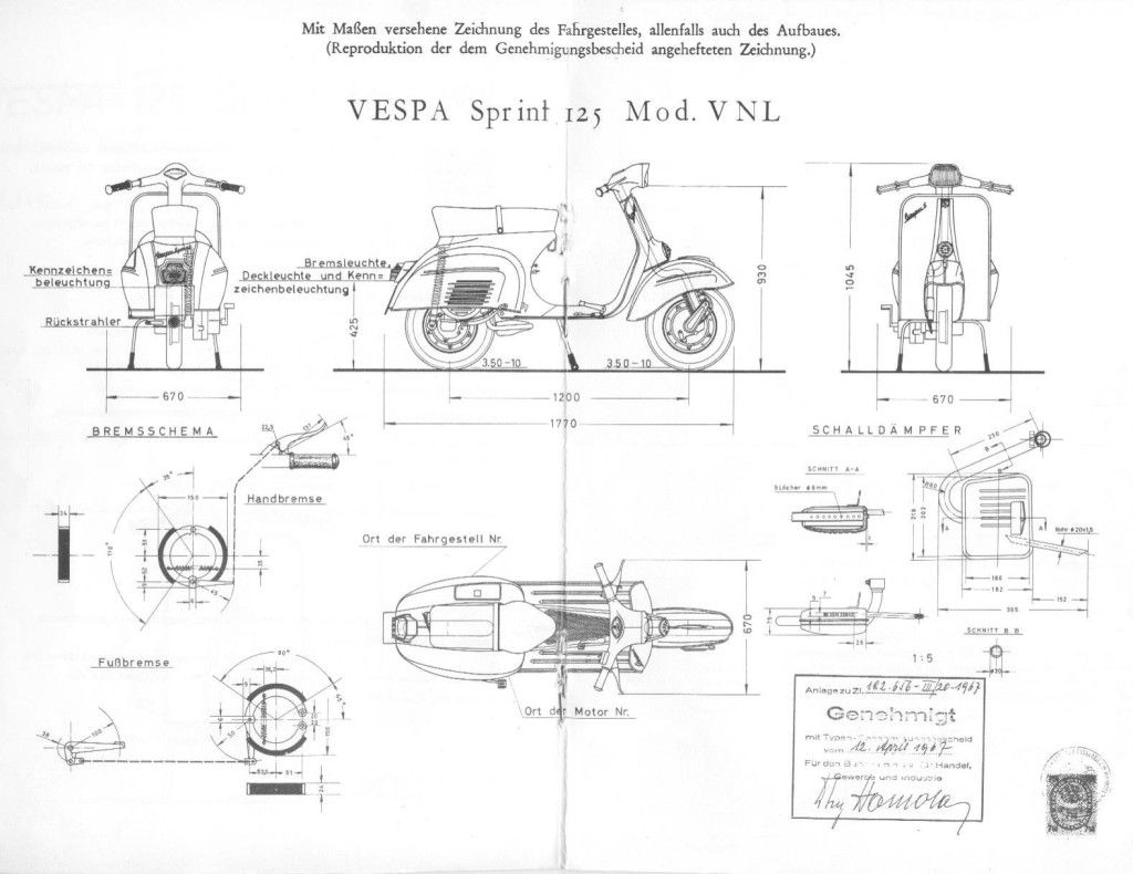 Vespa Sprint blueprint Vespa Sprint, Motorcycle Engine, Cars And  Motorcycles, Bike, Pattern