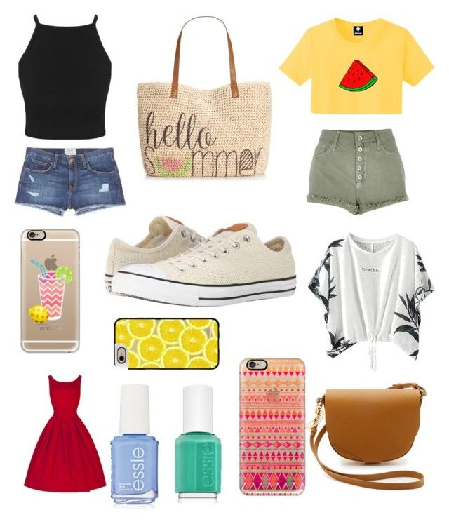 """""""I Can Almost Taste It... Summer"""" by abigailpeterson7 ❤ liked on Polyvore featuring beauty, Current/Elliott, River Island, Style & Co., Sophie Hulme, Casetify, Essie and Converse"""