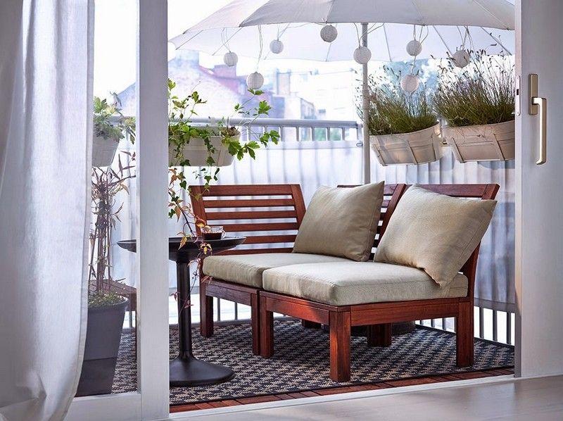 Balkonmöbel für kleinen Balkon \u2013 50 Ideen