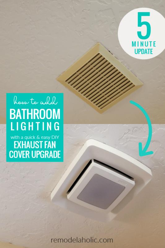 Remodelaholic Update An Existing Bathroom Exhaust Fan Cover Bathroom Exhaust Fan Cover Exhaust Fan Cover Bathroom Exhaust Fan