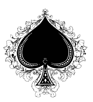 fancy spade card symbol  home message archive theme | Ace tattoo, Spade tattoo, Ace ...