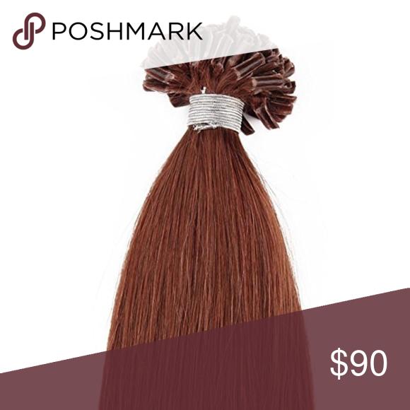 18 Nail U Tip Human Hair Extensions 33 Length 18 Color 33