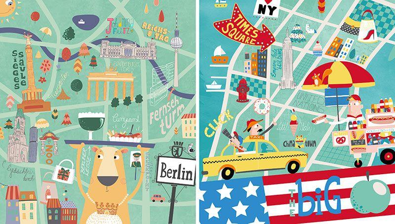 Berlin & New York — Johanna Fritz illustration
