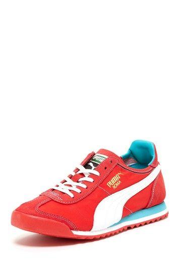 Puma women s Roma Slim Nylon  Red Turquoise  b752a3e3f