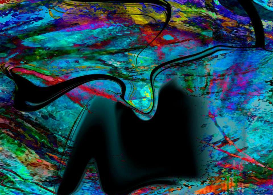"""Pintura digital abstracta de Francisco Cuéllar """"Cusan"""" https://www.facebook.com/CusanArteDigital"""