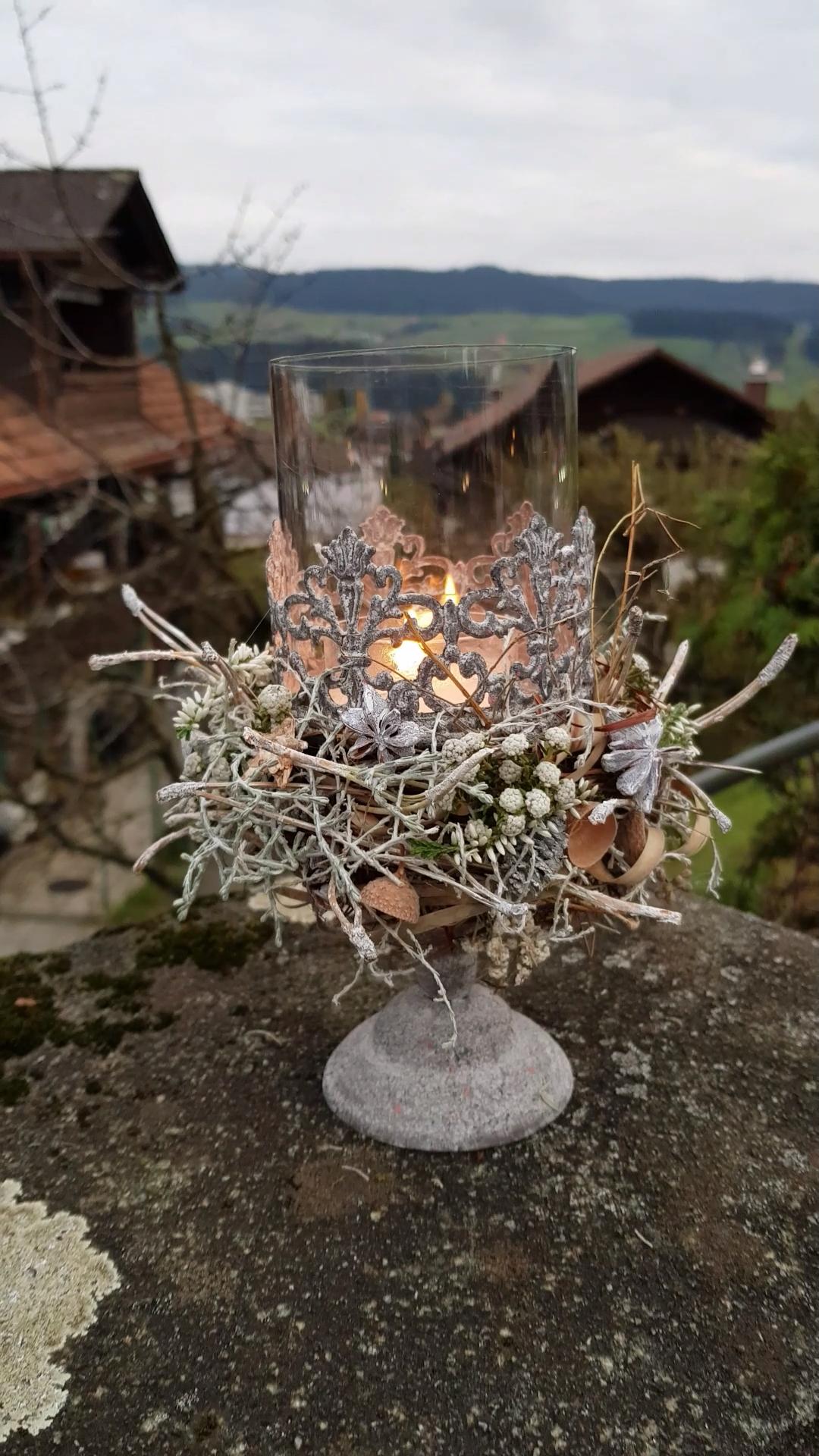 Photo of Kerze im Glas dekorieren