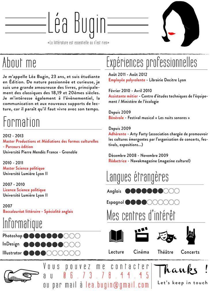 Business Infographic Souris Des Villes Helene Denis Graphic Design Cv Resume Design Visual Resume