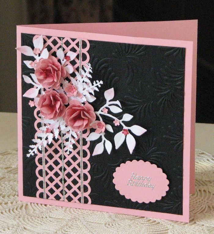 handmade flowers trellis punch sizzix leafy branches