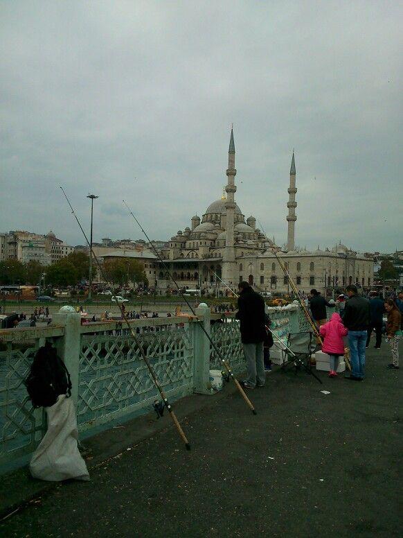 Yeni Cami from Marmara Bridge