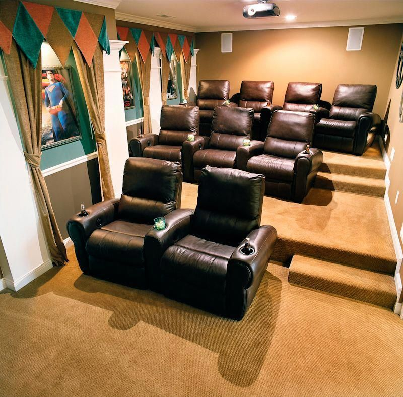 Home Theater Seat Design Ideas: Fantastic Home Theater Suggestions For Tiny Space