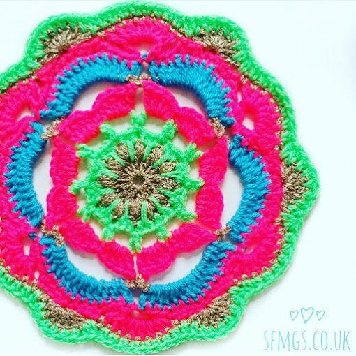Club Tropicana Mandala | Free Crochet Pattern | Mandalas | Pinterest ...