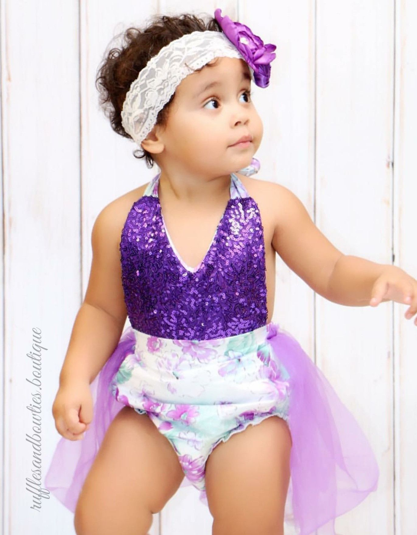 Our tutu rompers are filled with a little glitz n glam made with