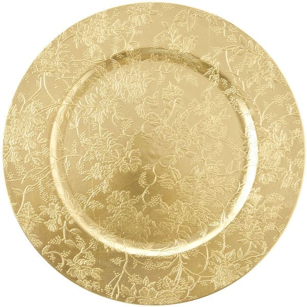 Zara Home Gold Christmas Plate Charger 4 90 Liked On Polyvore Featuring Home Kitchen Dining Dinnerw Christmas Plates Floral Plates Christmas Tableware