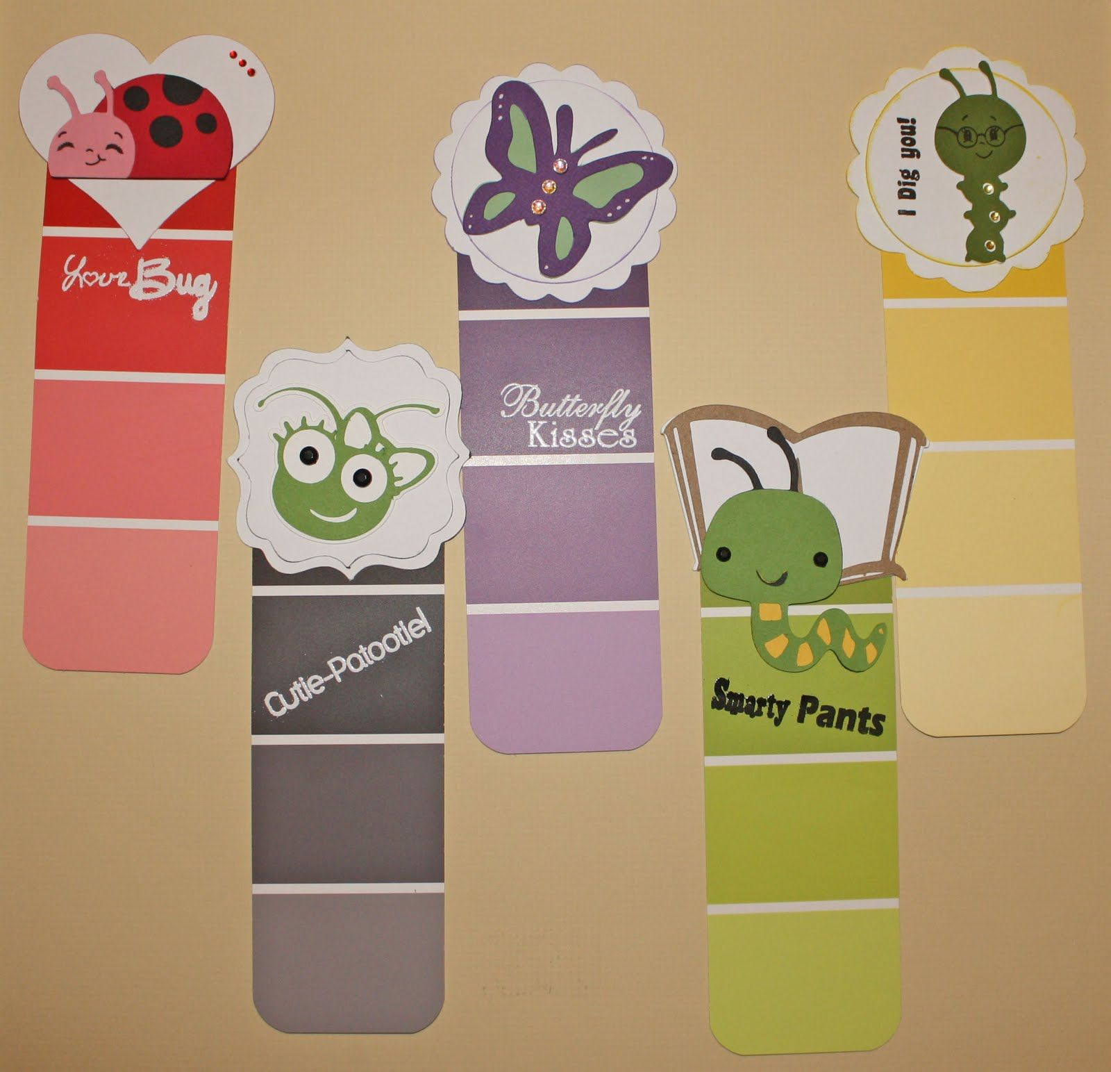 craft ideas for making bookmarks paint chip bookmark craft idea birthday 6203
