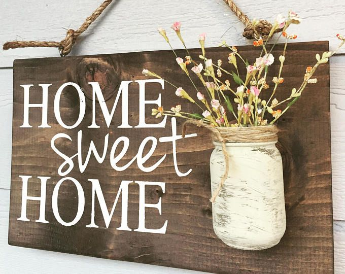 Welcome Sign Spring Decoration Blue Outdoor Hanging Sign
