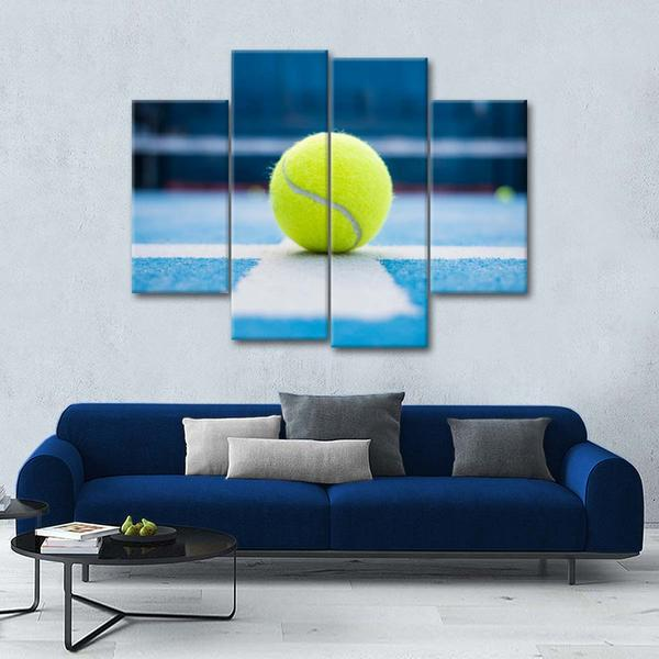 Tennis Ace Multi Panel Canvas Wall Art In 2020 Tennis Art Painting Multi Panel Canvas Canvas Wall Art