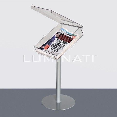 Acrylic Dump Bins Magazine Newspaper Dump Bins From Luminati Brochure Stand Magazine Stand Newspaper Holder