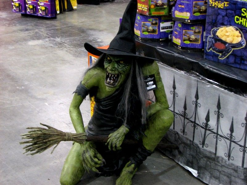 my personal favorite decoration i am so mad that they discontinued this perfectly hideous and evil latex witch prop spirit halloween store