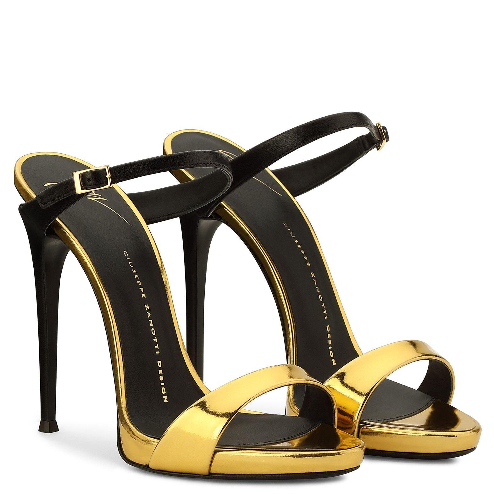 Tania Sandals Gold Giuseppe Zanotti Mules Shoes Sandals Giuseppe Zanotti