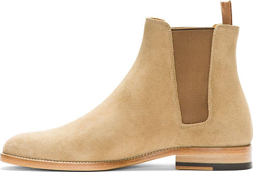 3ae8dafa864 Saint Laurent Tan Suede Chelsea Boots in Khaki for Men (tan) | Lyst ...