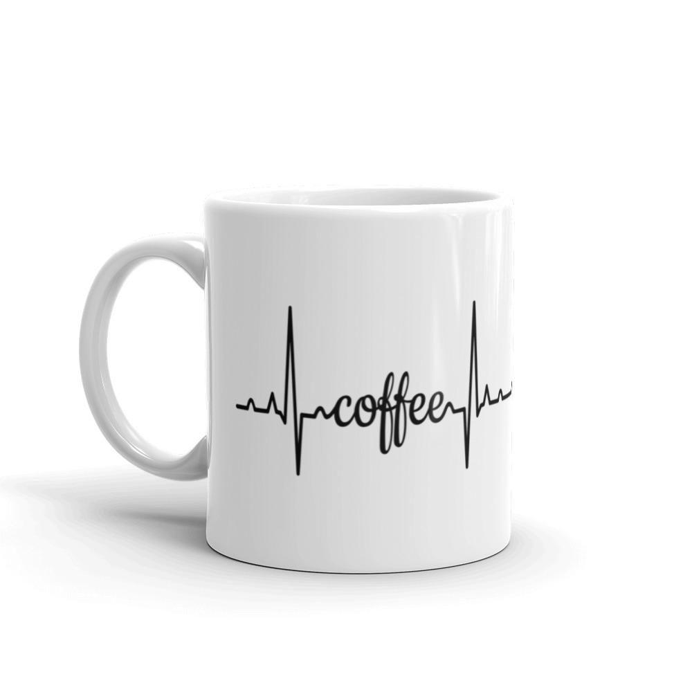 EKG Coffee Ceramic Mug