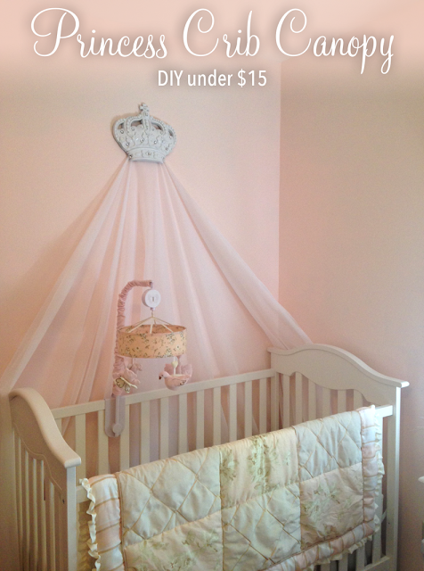DIY Baby Girl Princess Crib Canopy | Pretty Pink Nursery Decor Ideas | Lowcountry Mama # & DIY Baby Girl Princess Crib Canopy | Pretty Pink Nursery Decor ...
