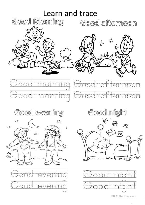 Greetings English Lessons For Kids Learning English For Kids Kindergarten Worksheets