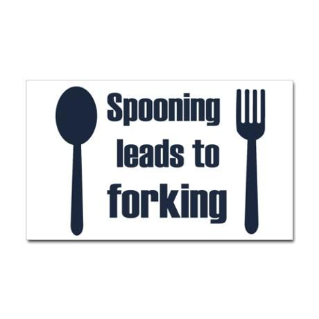 Spooning leads to forking