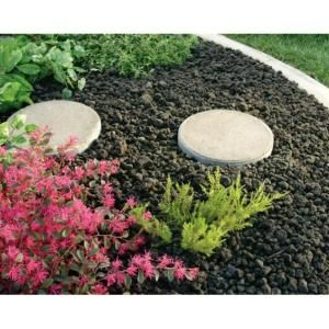 Vigoro 0 5 Cu Ft Black Lava Rock 100032410 At The Home Depot Mobile Landscaping With Rocks Lava Rock Landscape Backyard Garden
