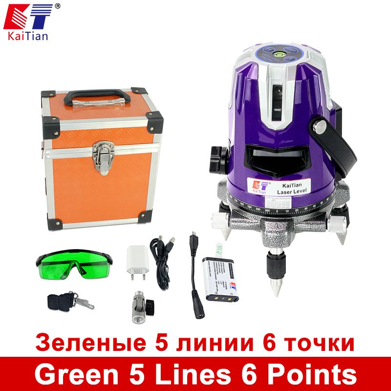 Us 142 07 Kaitian Laser Level Green 5 Lines 6 Points 360 Rotary Self Leveling Vertical Green Kaitian Laser Level Leveling Lines Points Rotary Self Dengan Gambar