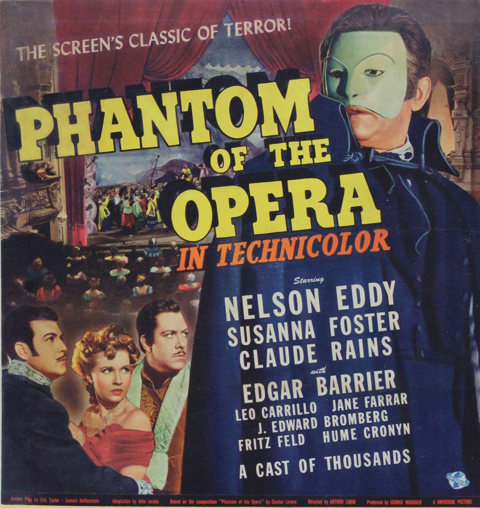 Phantom Of The Opera 1943 Poster