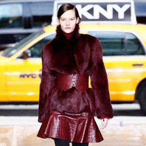 Anything oxblood...like this outfit from DKNY