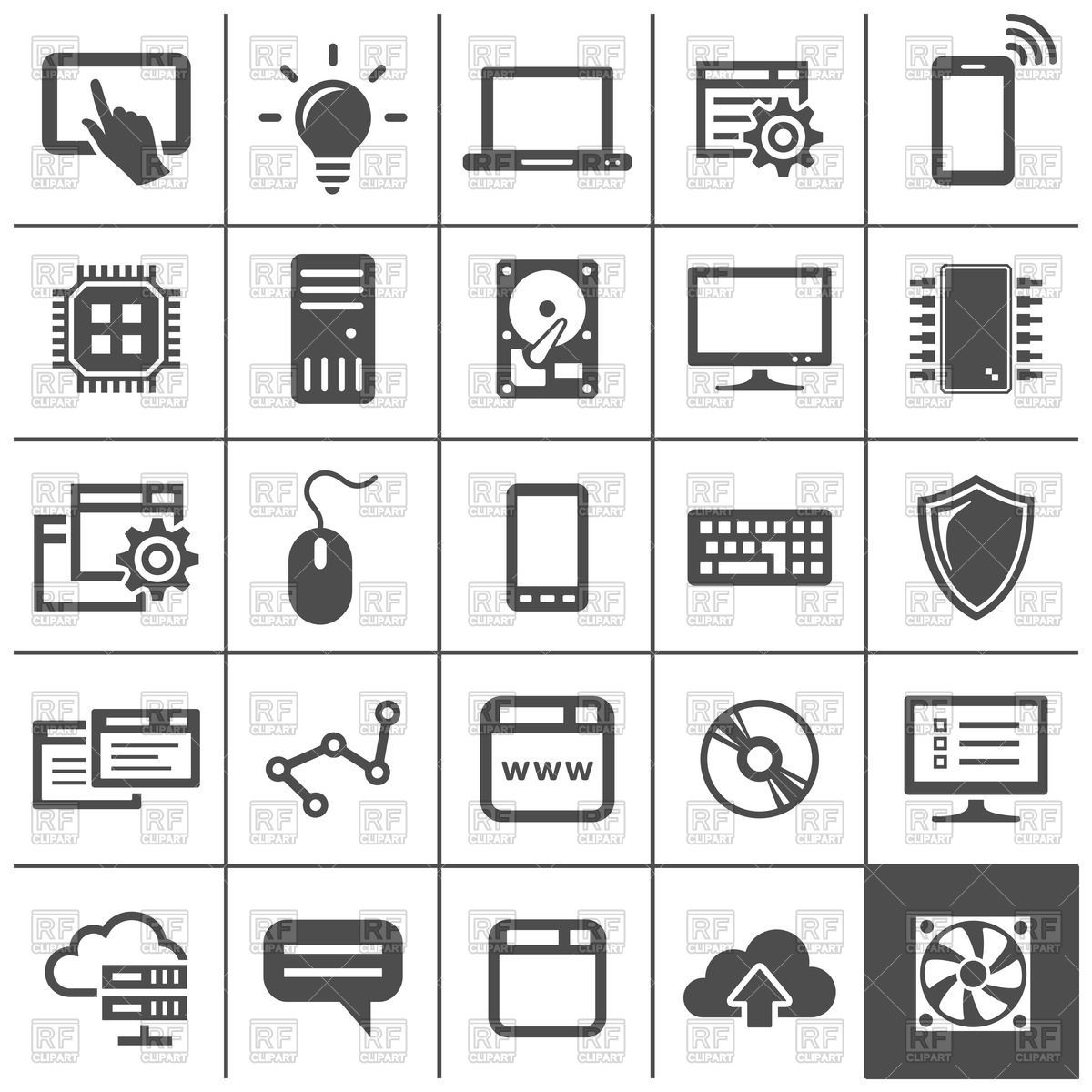 Computer Technology Icons Network Devices And Connections Vector Totolink Pl200kit 200mbps Powerline Adapter Free Clipart Graphics Art Cloud