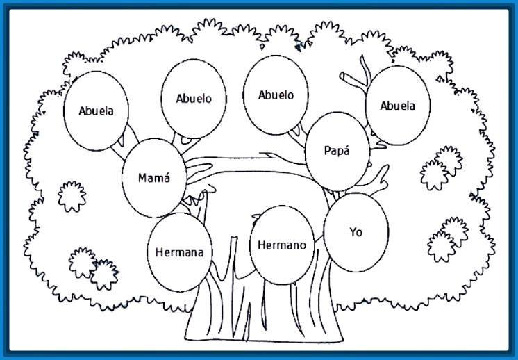 Pin De Brenda Llotun En Oso Arbol Genealogico Para Colorear