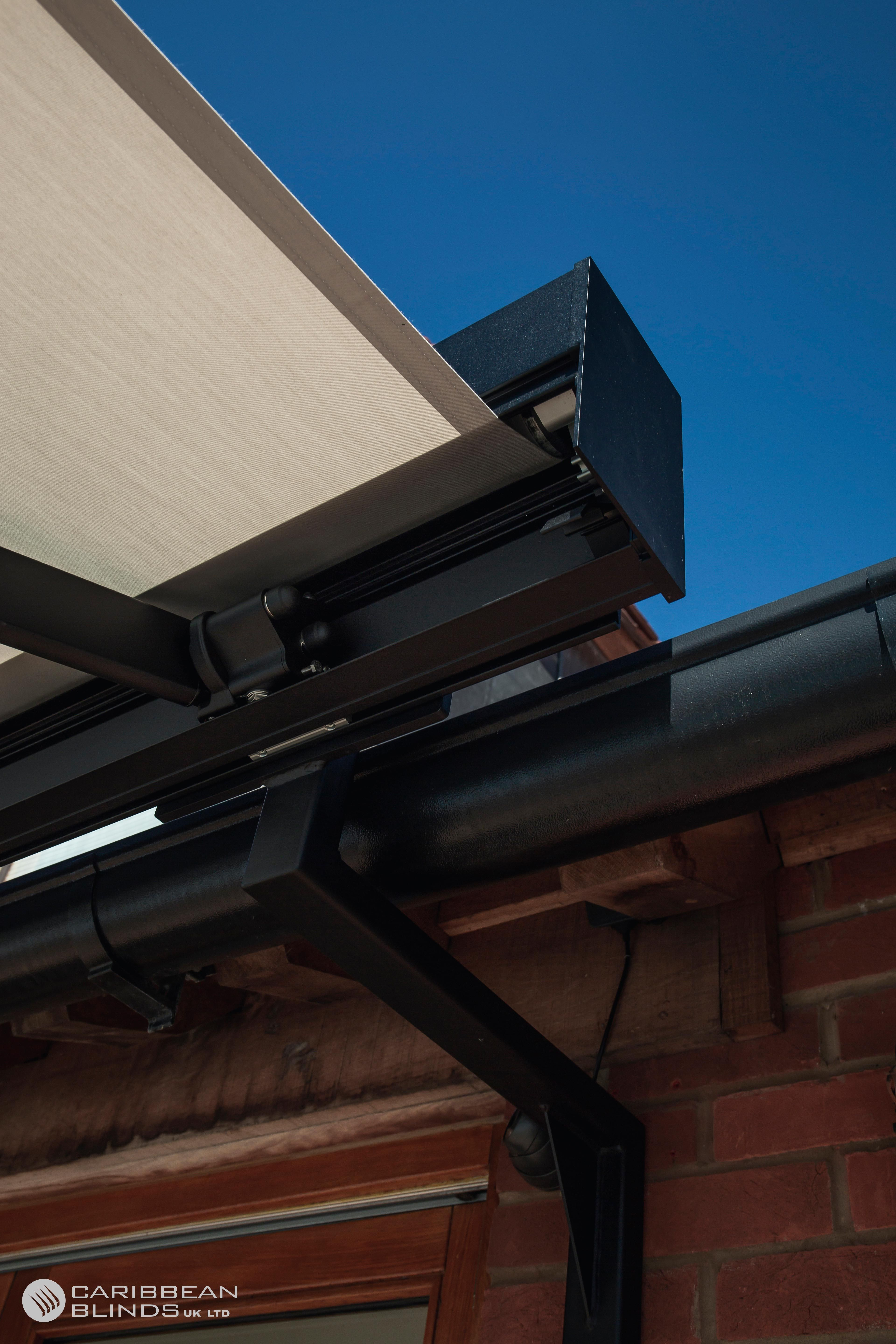 We Manufacture Bespoke Awning Brackets To Overcome Gutters And And Single Storey Extensions Awnings Ga Outdoor Awnings Patio Awning Blinds For Bifold Doors