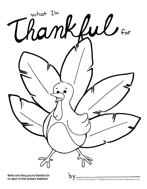 Thanksgiving Coloring Page What I M Thankful For Hearts And
