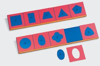 Montessori Materials Insets Single Shape Puzzles Toddler Preschool Toy BL