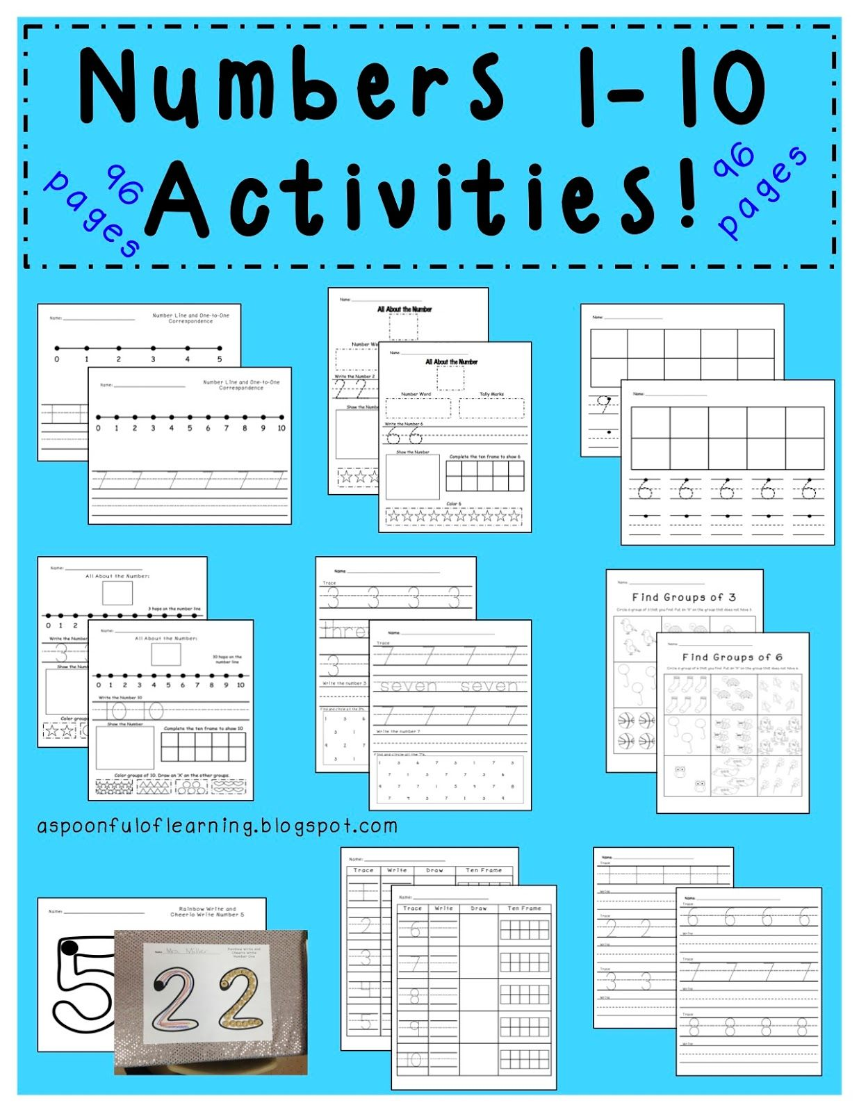 TONS of Number 1-10 Activities and FREEBIES with details on how to ...