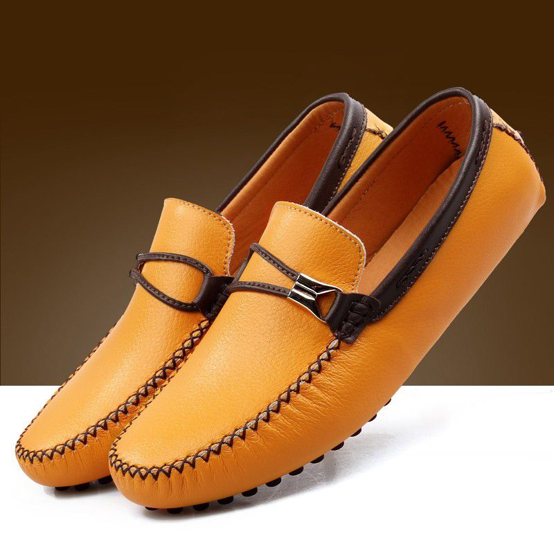 Leather Casual Fashion Men's Shoes Hand Made Shoes