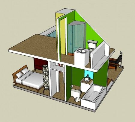 Google Sketchup 3d Tiny House Designs Tiny House Design Cottage House Interior House Design