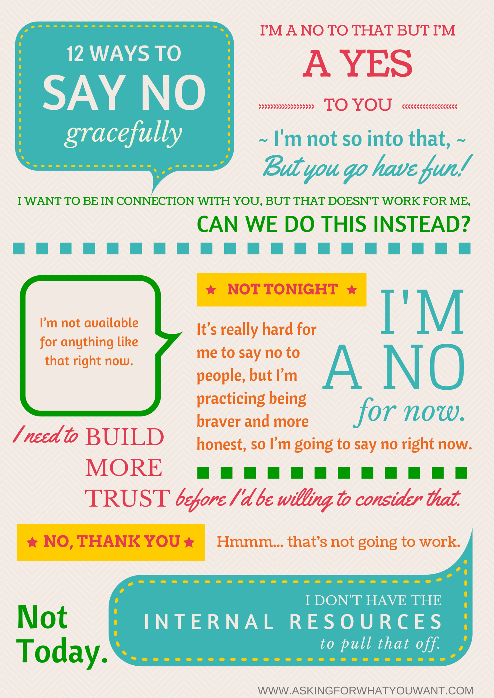 12 Ways To Say No Gracefully Without Saying Maybe Later