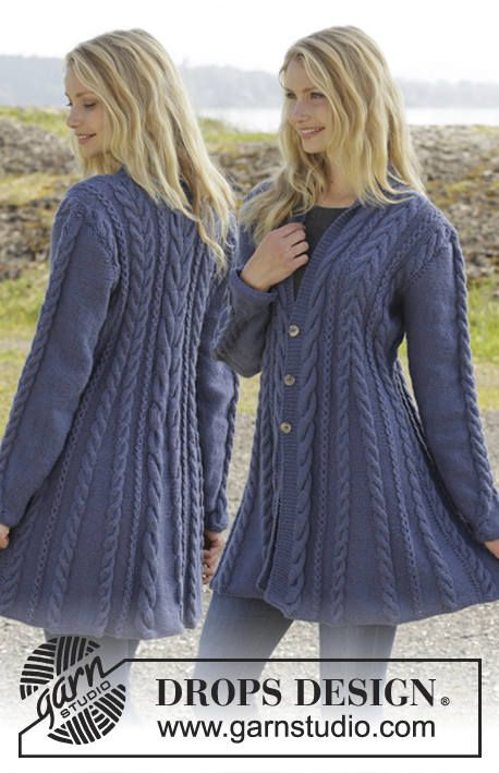 1cd2f4da0332e Hand knitted fit n flared aran style jacket cardigan with
